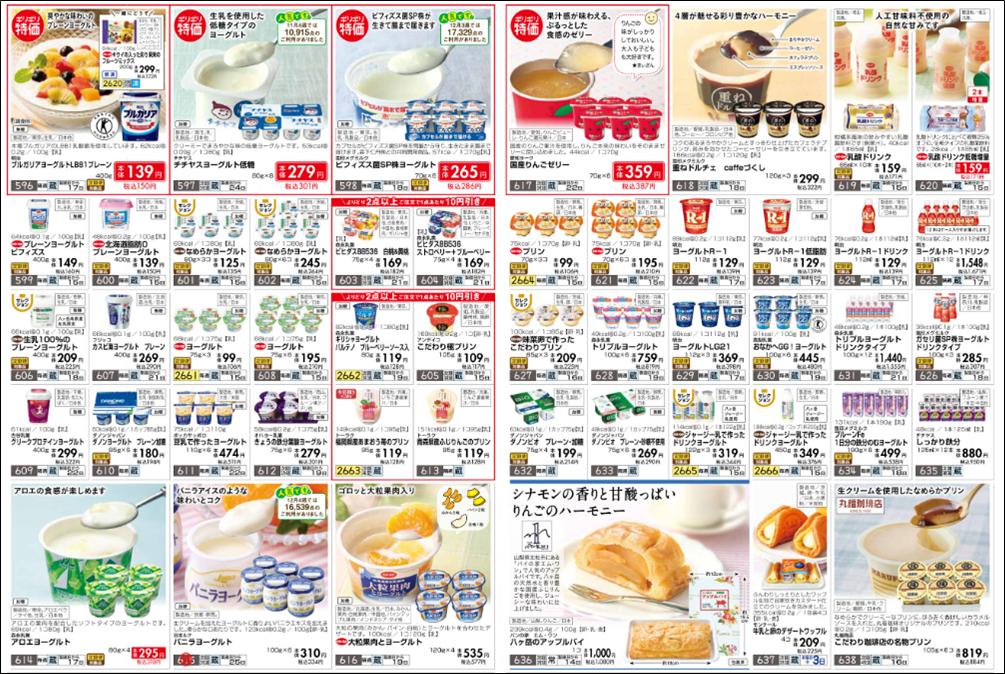 おうちコープの乳製品の値段