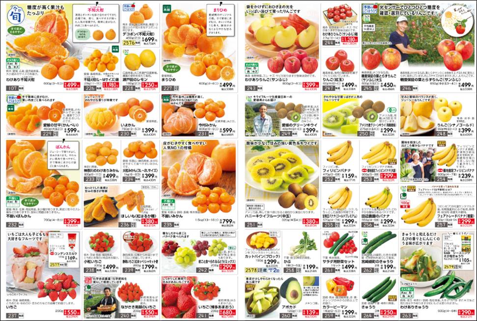 おうちコープの果物の値段
