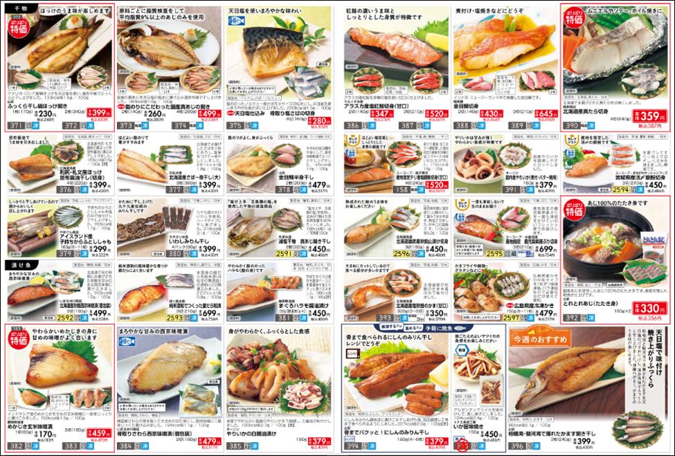 おうちコープの魚の値段